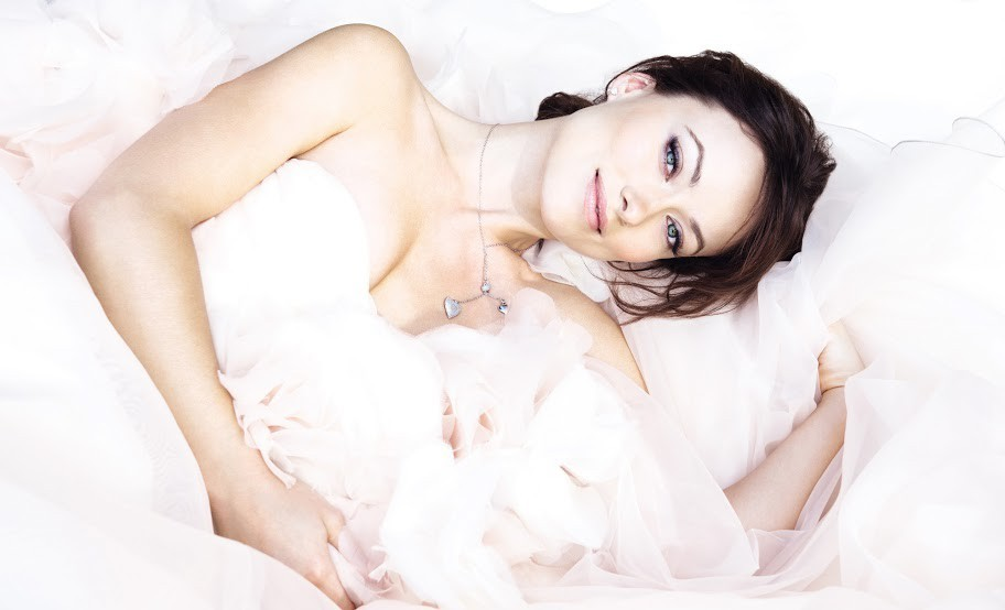 Olivia Wilde in Hayley Paige for Avon fragrance Amour
