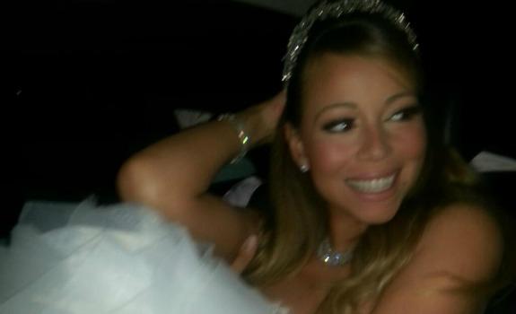 Mariah Carey in Lazaro Bridal