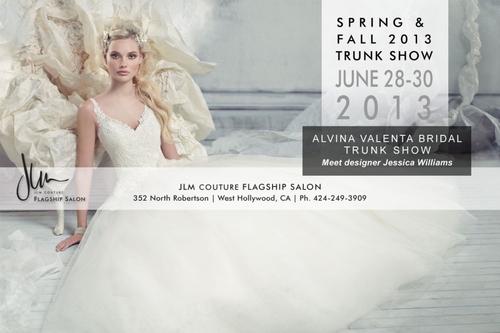 Alvina Valenta Spring and Fall 2013 trunk shows at JLM Couture Boutique in West Hollywood California