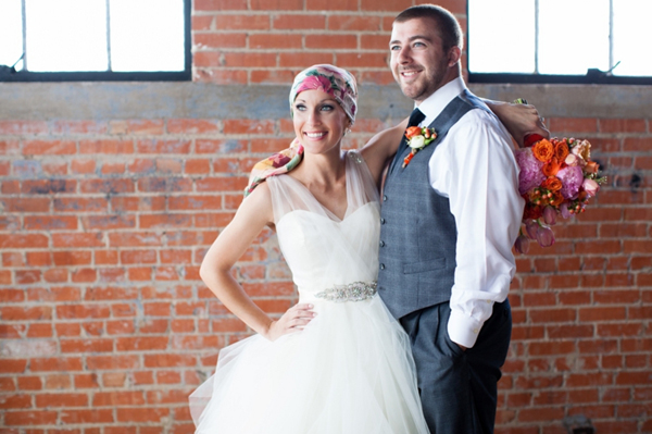Real Bride kristin in alvina valenta wedding dress_ southern weddings magazine