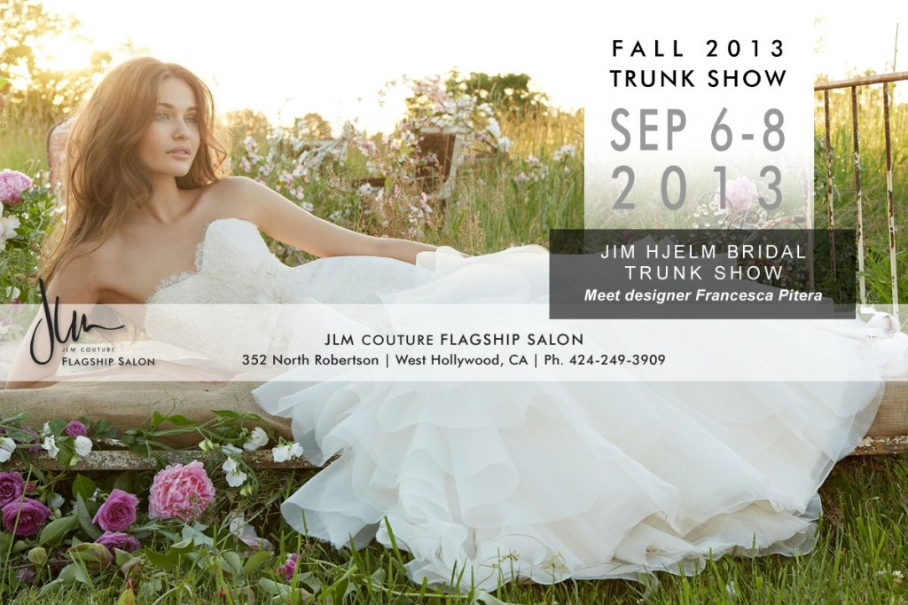 jim hjelm september trunk show at JLM Couture wedding dress boutique