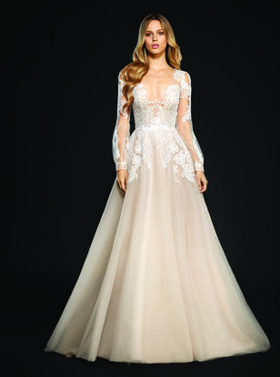 Non traditional wedding dresses for a valentines day wedding jlm hayley paige winnie gown junglespirit Gallery