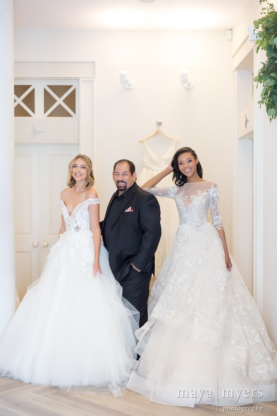 Lazaro with models in style 3764 and 3758