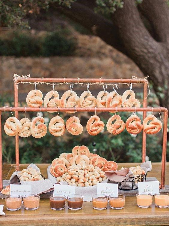 Ideas For Your Wedding Reception Pretzel Food Wall