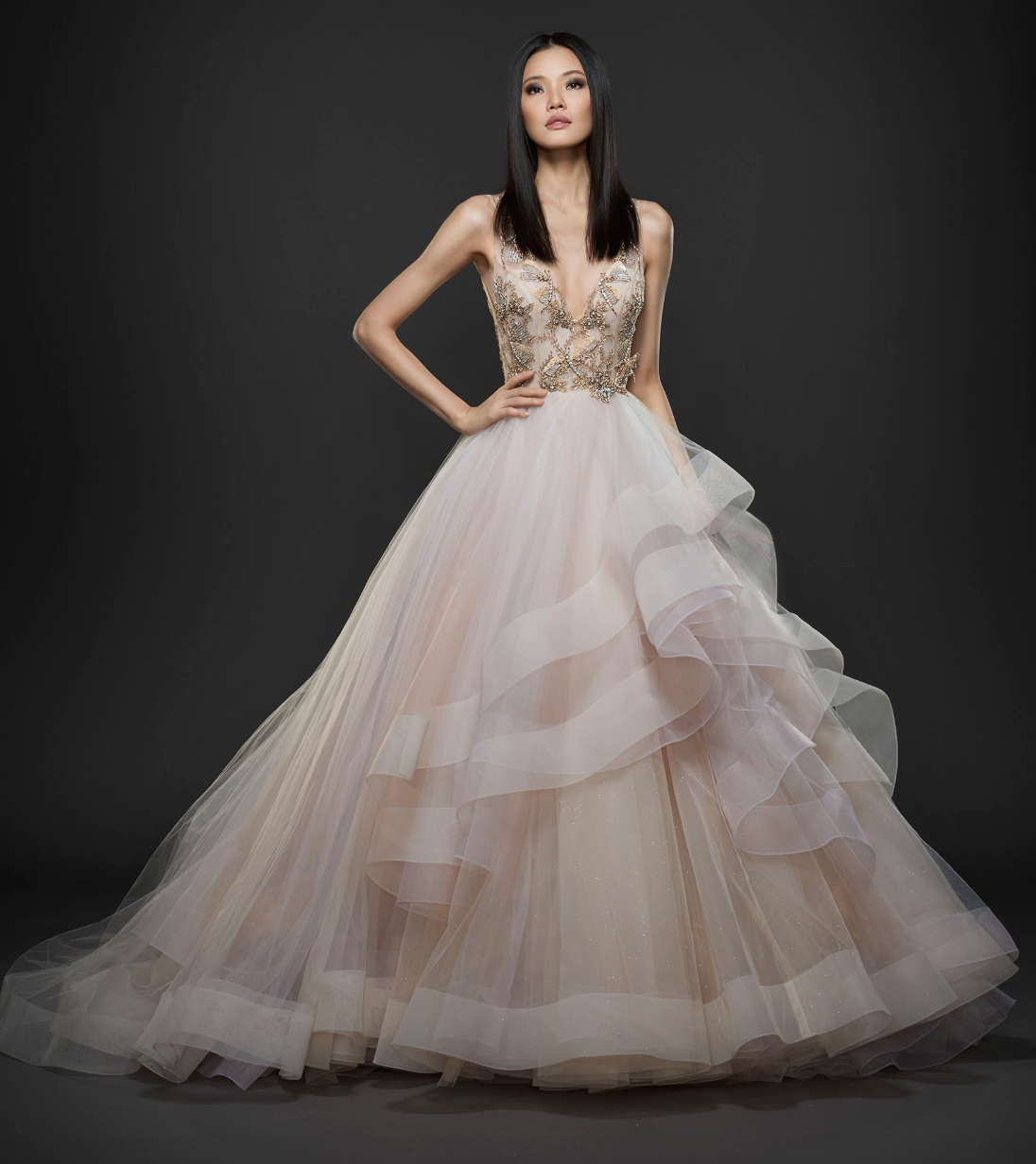 Colorful Bridal Gowns to Wear on Your Wedding Day | JLM Couture