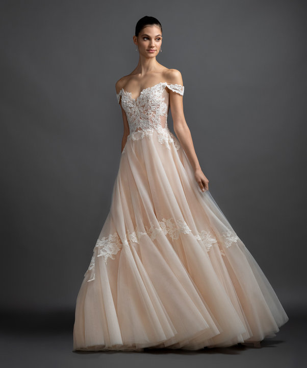 Blush Lazaro Wedding Gown: Shades Of Slay: Colored Wedding Gowns From JLM Couture