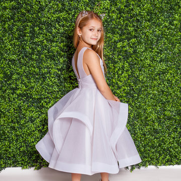 La Petite by Hayley Paige Style 5823 Dora Flower Girl Dress