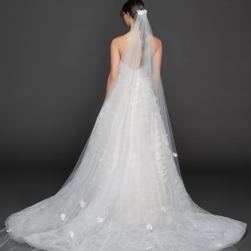 Lazaro Style 3957 Marigold Bridal Veil