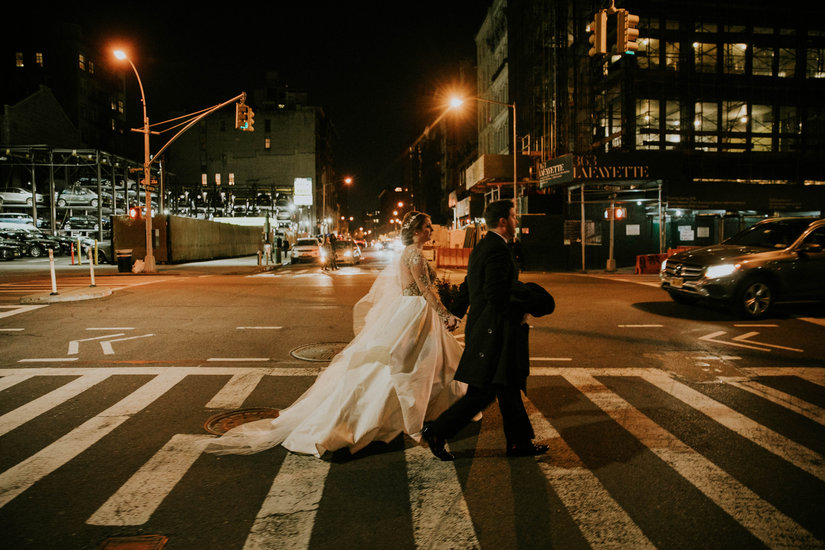 Walking, Manhattan, city, Nato Tuke, Hayley Paige, Collins, crosswalk, Couples Photo