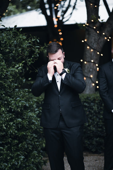 groom crying, fiona and bobby photography
