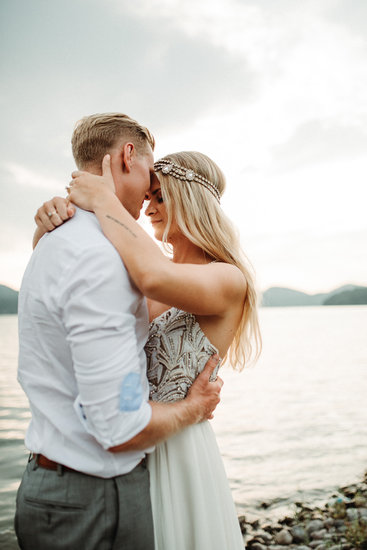 Bride and Groom at The Lodge on Whitefish Lake, in Whitefish MT,  - Joelle Julian Photography