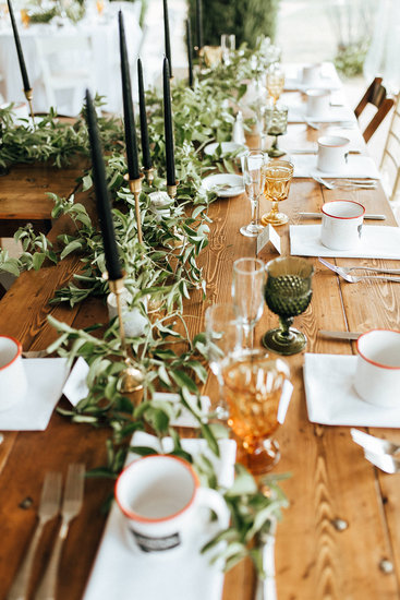 Head table at The Lodge on Whitefish Lake, in Whitefish MT,  - Joelle Julian Photography