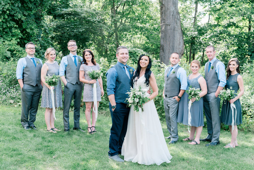 Bridal Party photos at The Slit Barn in Cambridge, ON