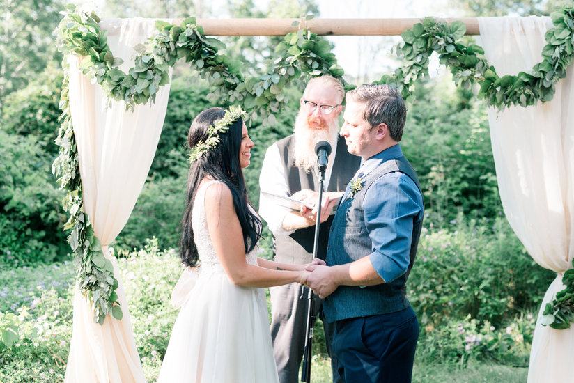 Simplistic Ceremony at The Slit Barn in Cambridge, ON