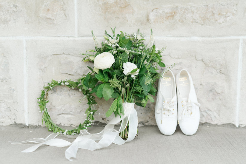 Flowers by Blooms & Flora, Shoes by Keds