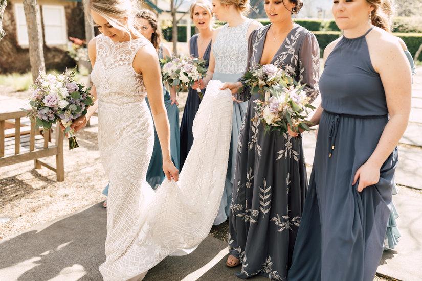 Blue Bridal Party Lazaro Style 3651