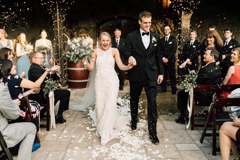 V. Sattui courtyard wedding ceremony