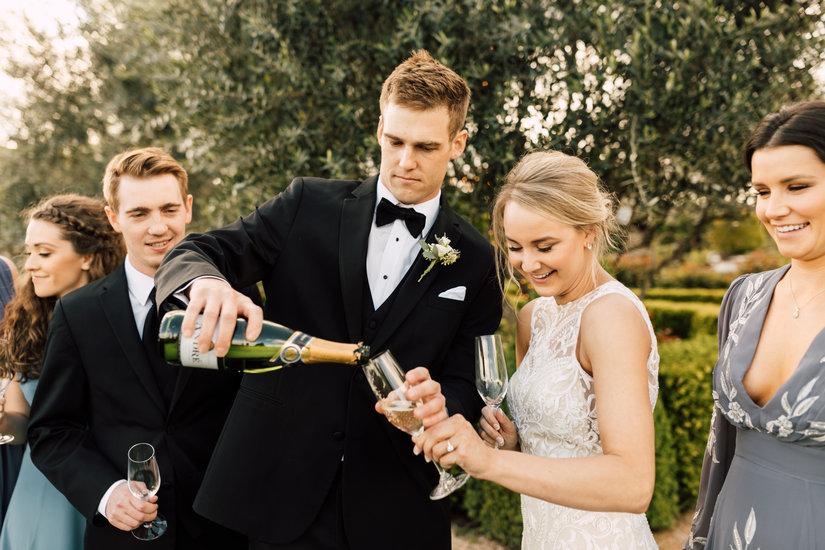 V Sattui Winery Wedding Toast