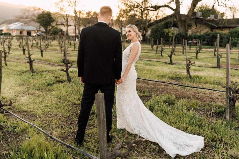 V Sattui Winery Wedding Photo