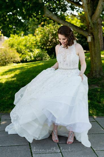 Bride dancing in dress