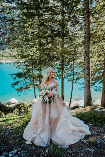Bridal portrait, Swiss elopement