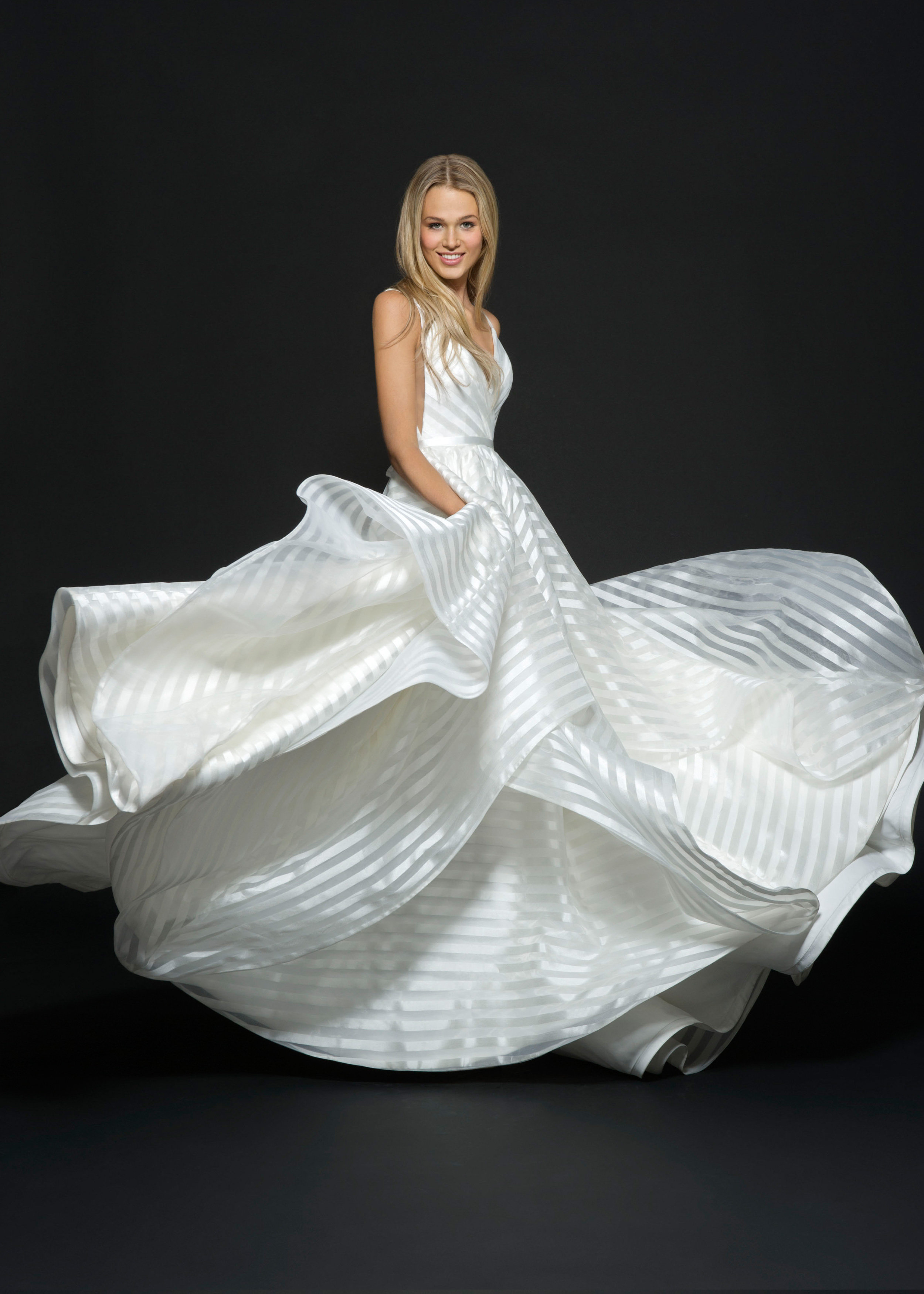 Bridal gowns and wedding dresses by jlm couture style for Wedding dress with stripes
