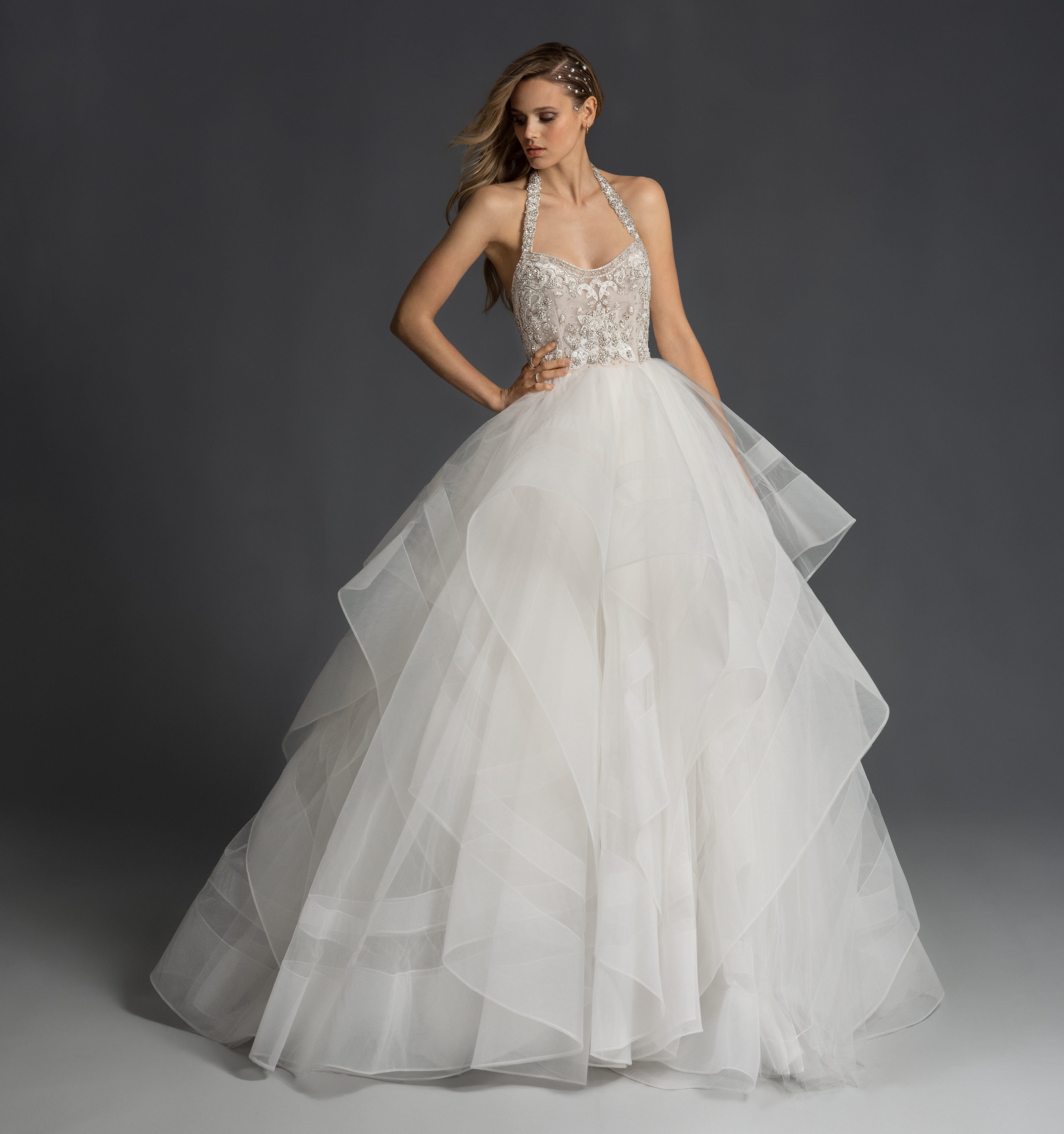 Hairstyle For Halter Neck Wedding Dress: Bridal Gowns And Wedding Dresses By JLM Couture