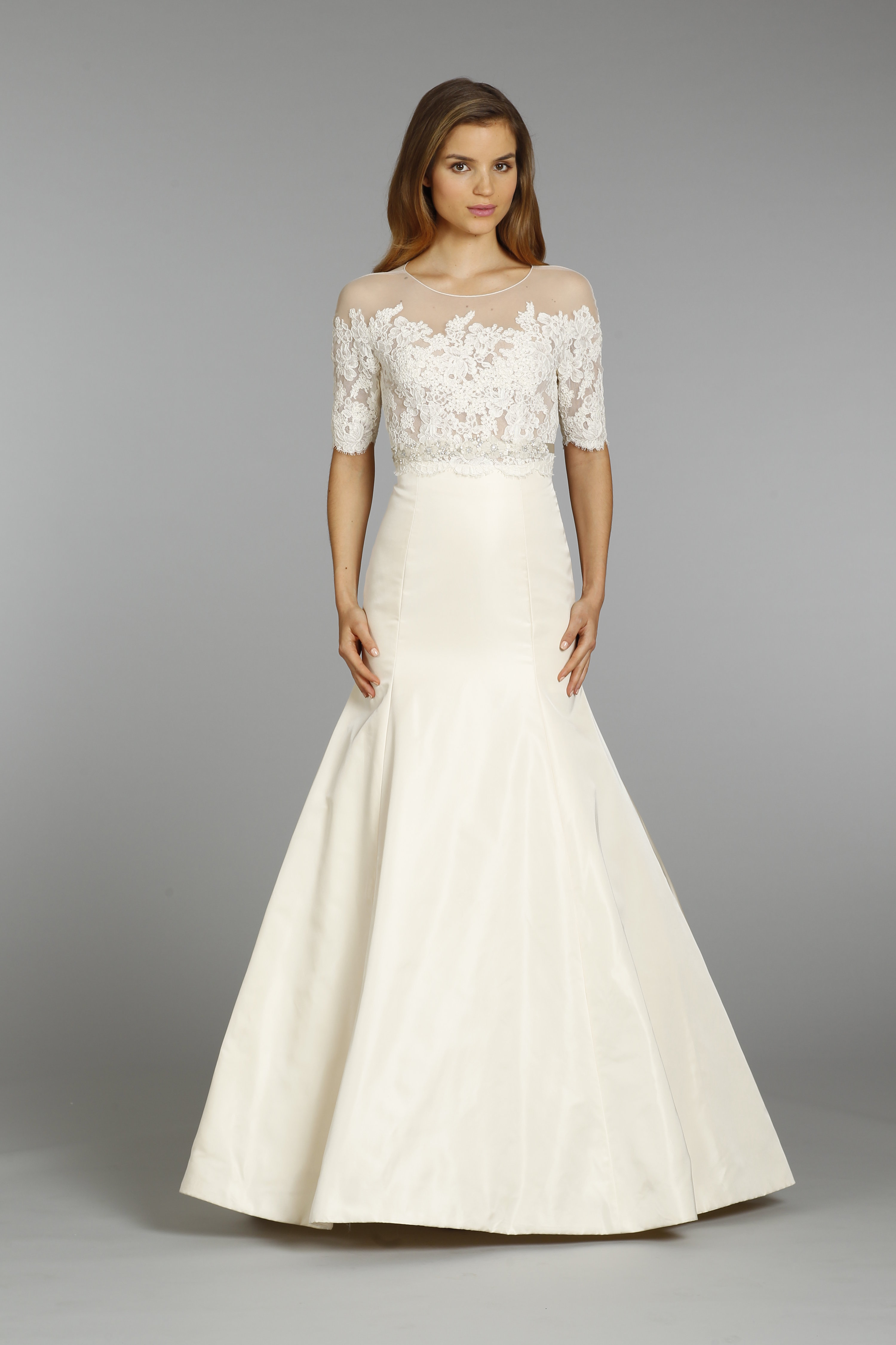 8360 Front To Save Jim Hjelm By Hayley Paige Bridal Gown