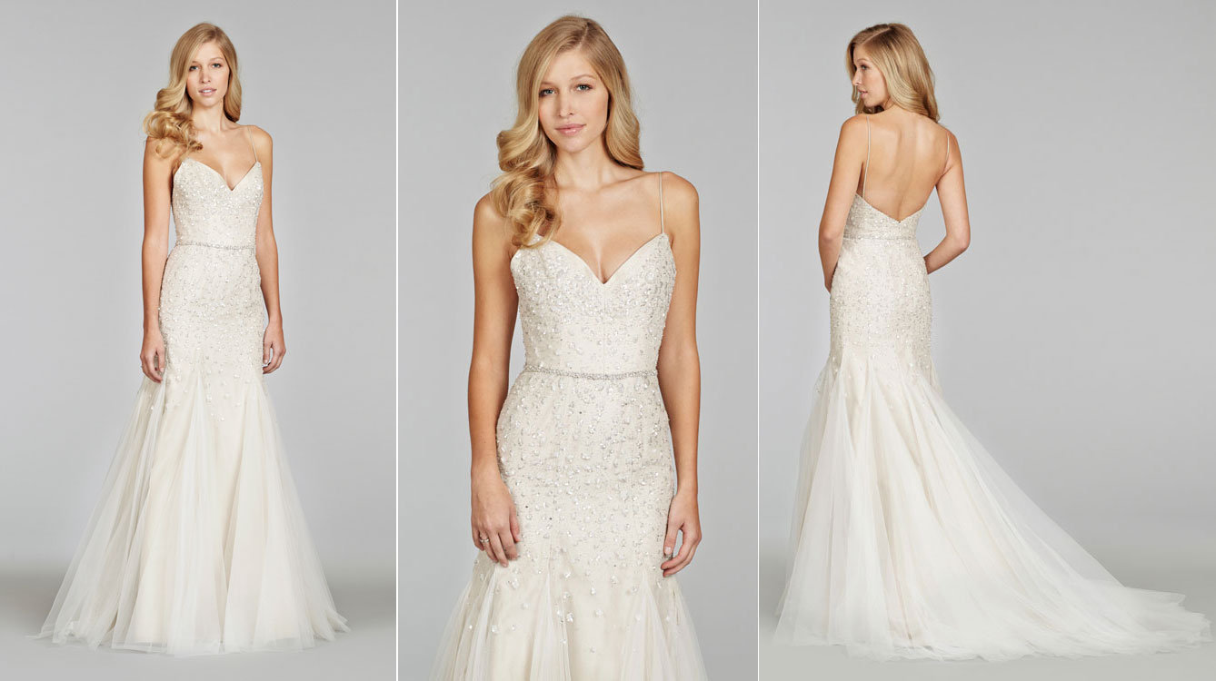 Style 8400 Alternate Views To Save Jim Hjelm By Hayley Paige Bridal Gown