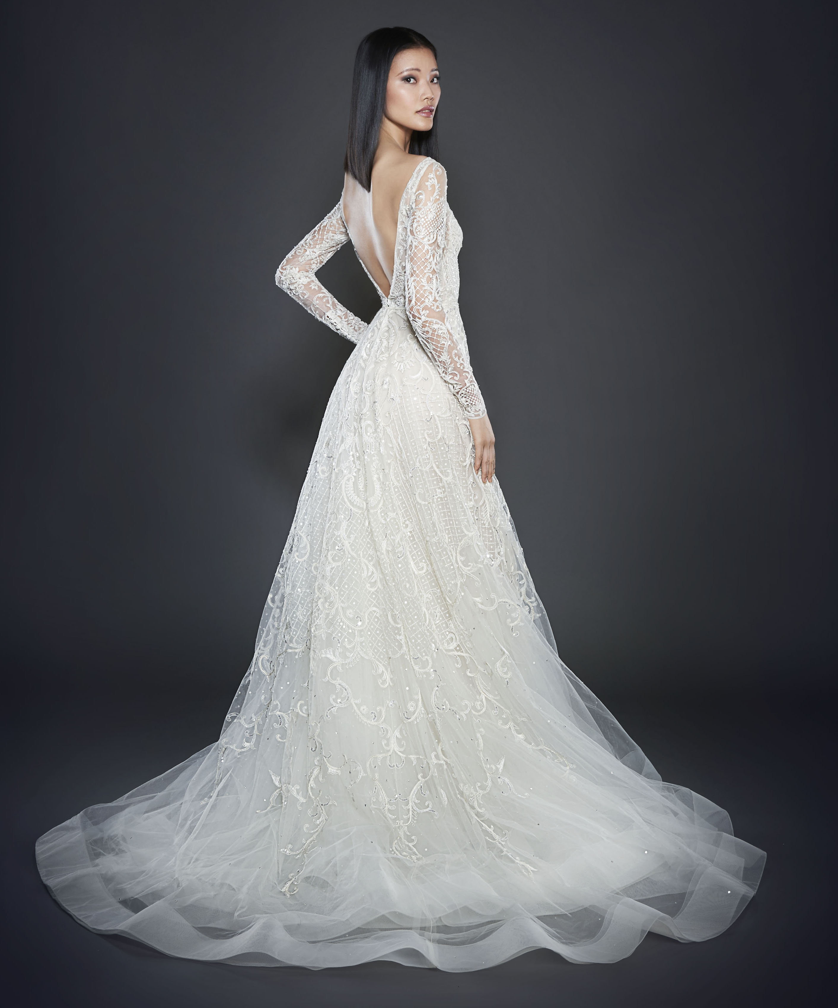 Style 3709 Lookbook Back To Save Lazaro Bridal Gown