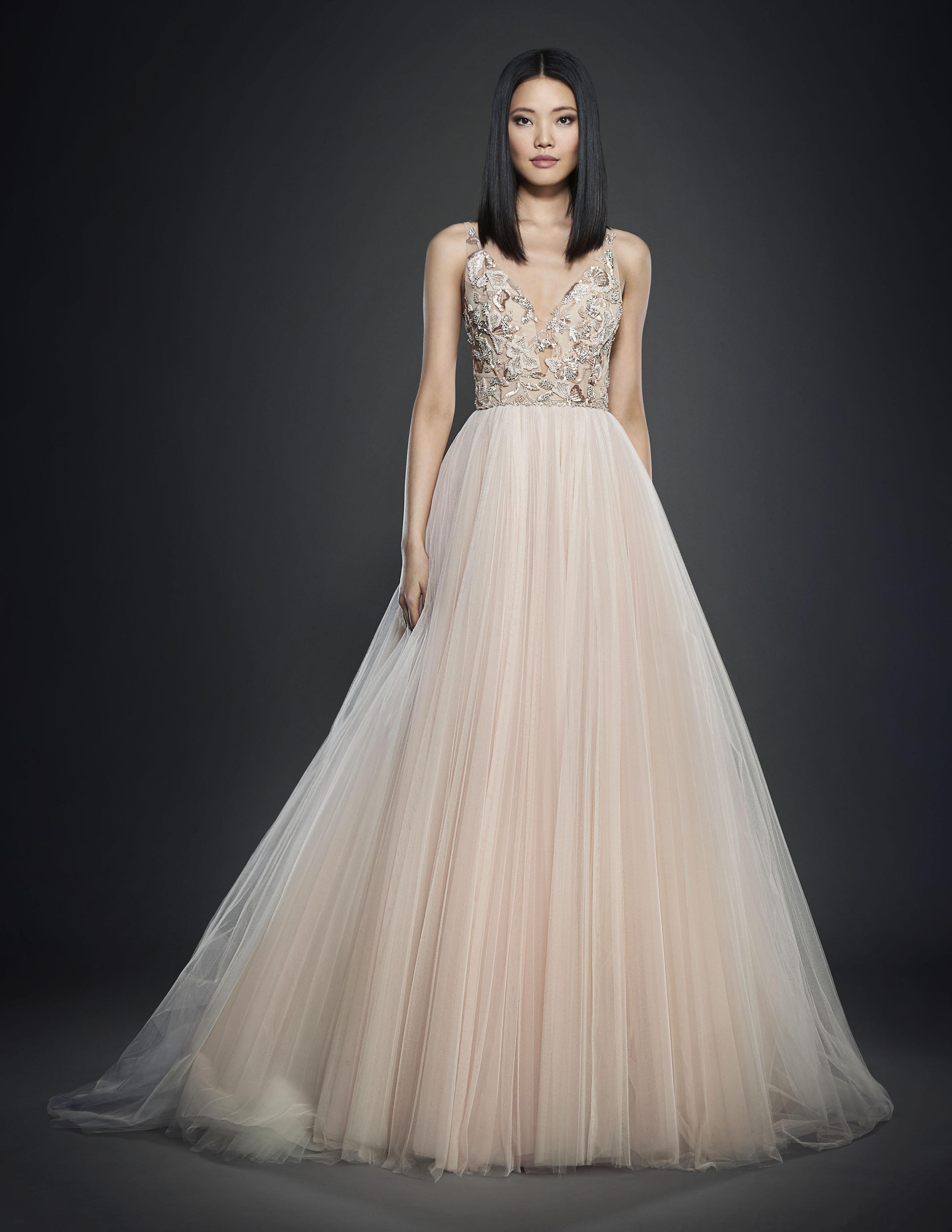 lazaro wedding dresses blush 81787 loadtve
