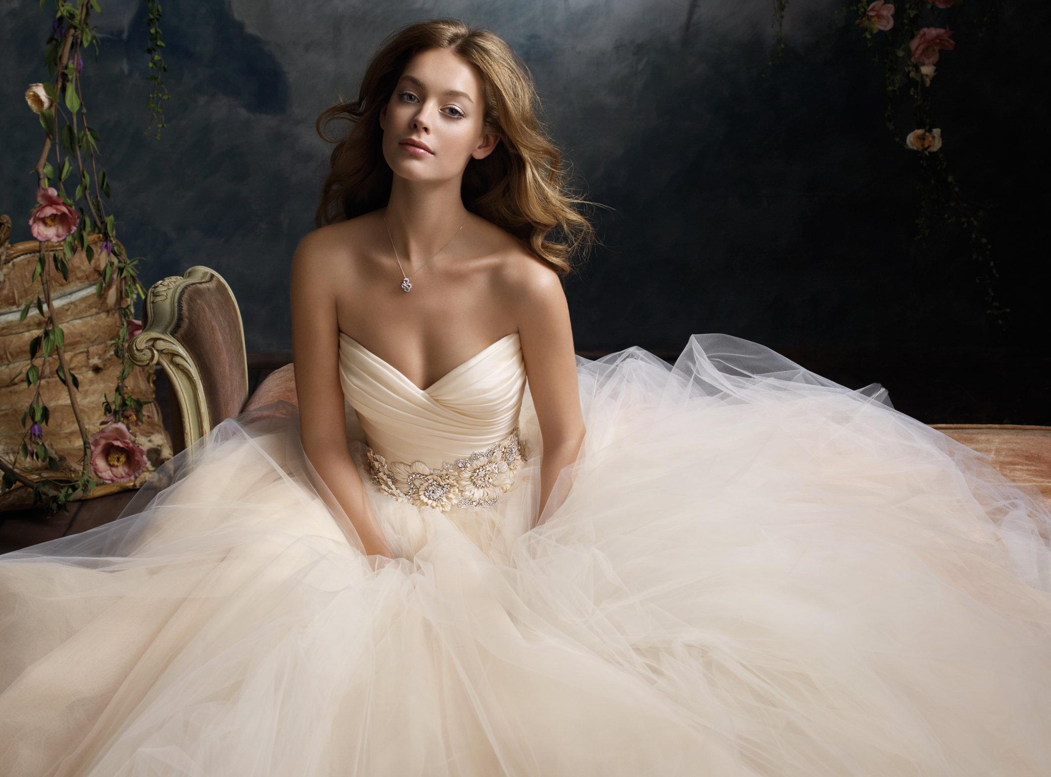 Lazaro Tulle Wedding Dress