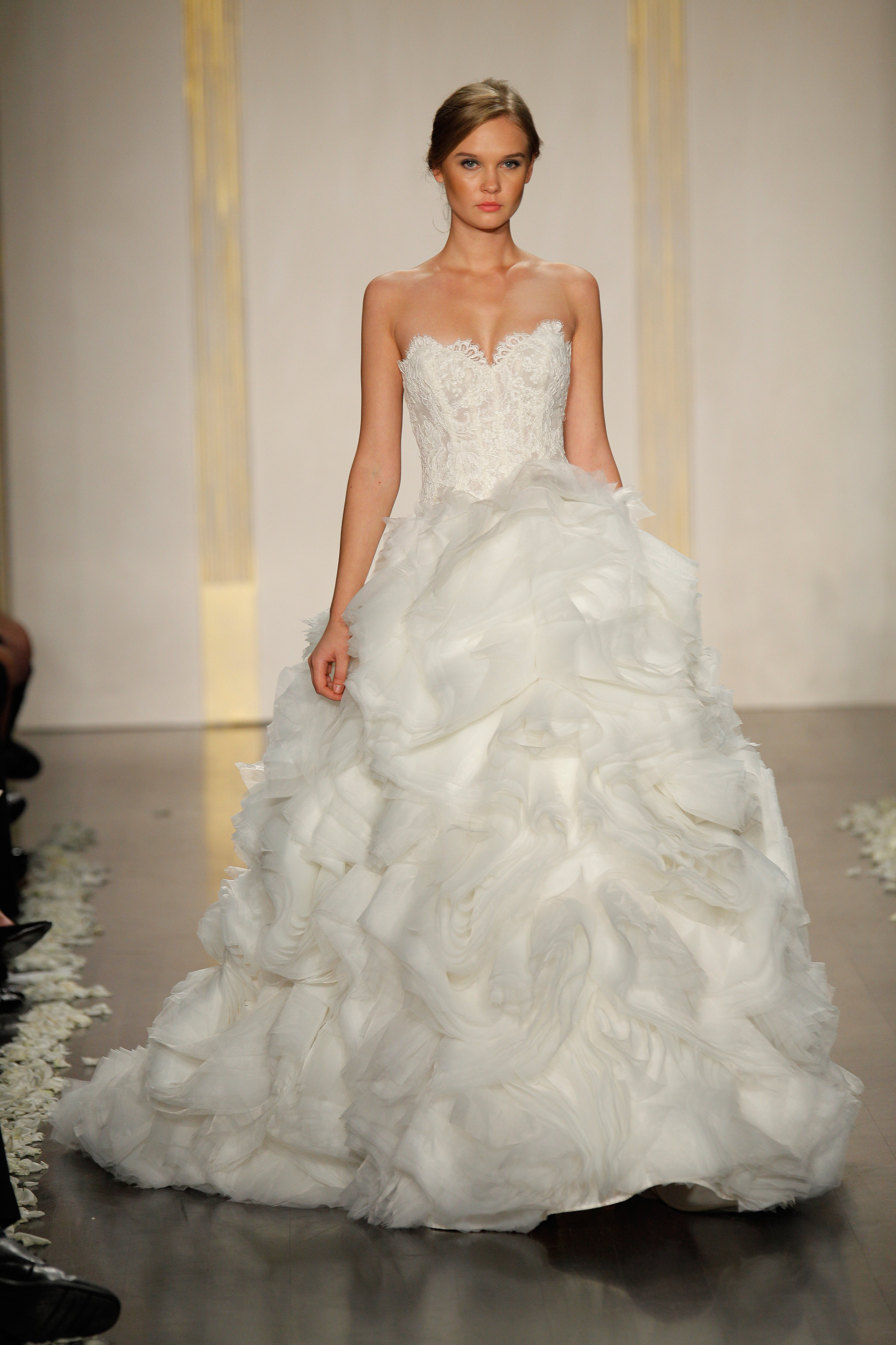 DOWNLOAD TO SAVE Ivory Organza Flounce Bridal