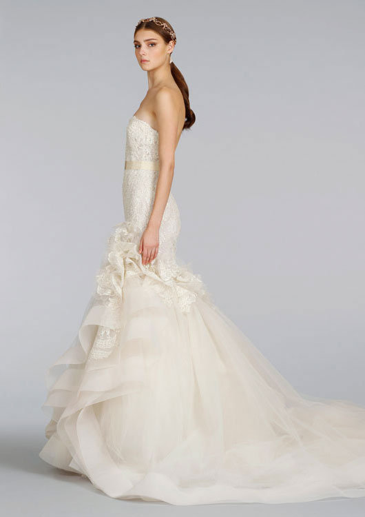 Lazaro wedding dress mermaid with lace