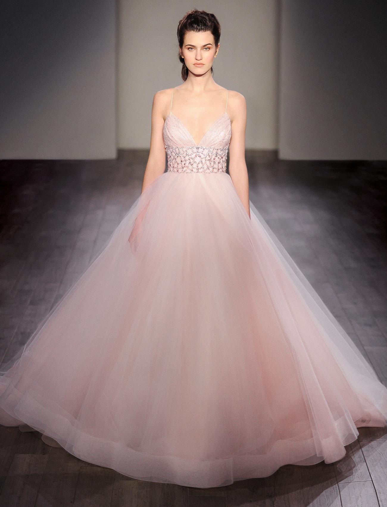 Unique Lazaro Evening Gowns Festooning - Ball Gown Wedding Dresses ...