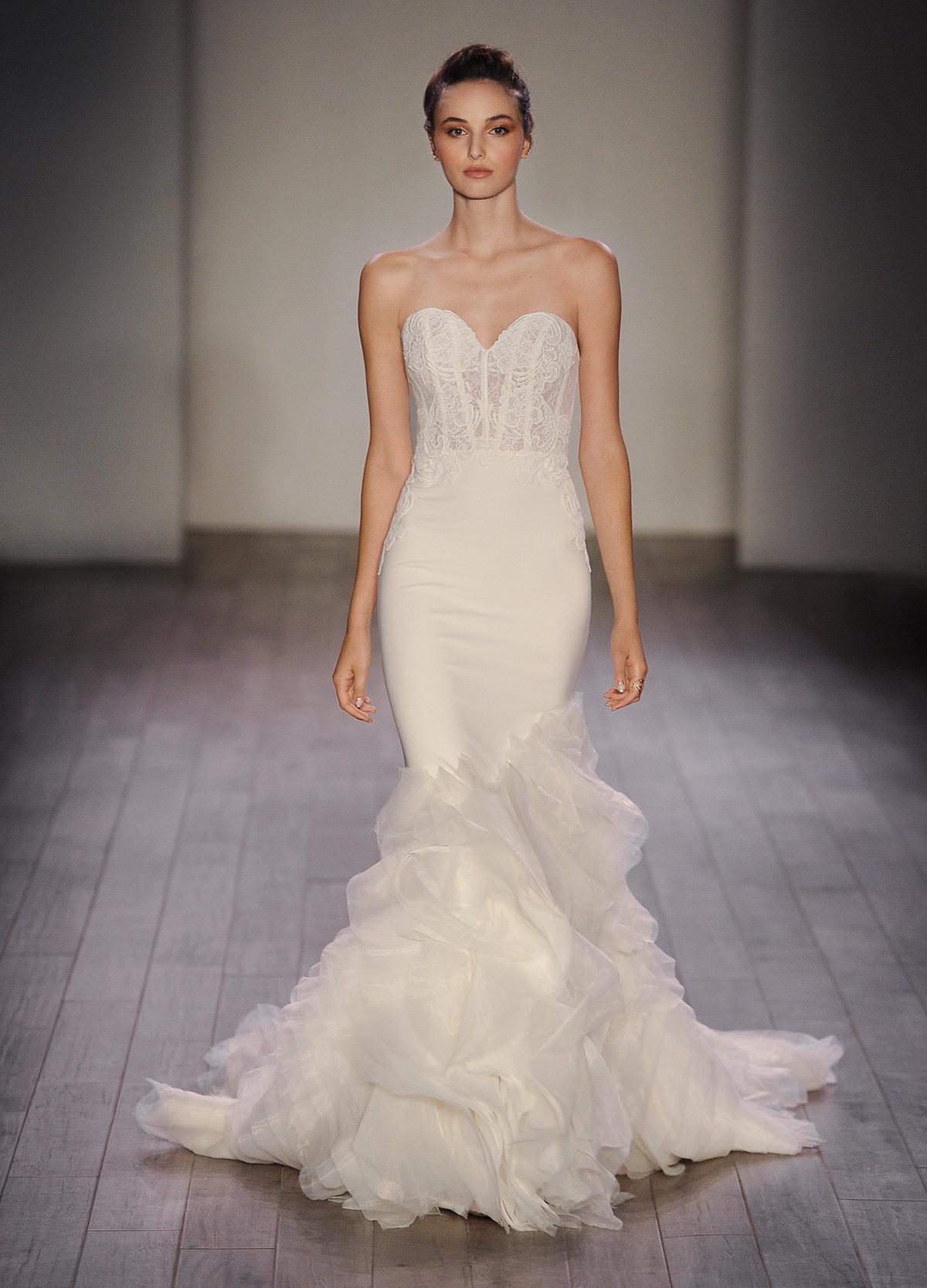 Lazaro Wedding Dress Designer Trendy With