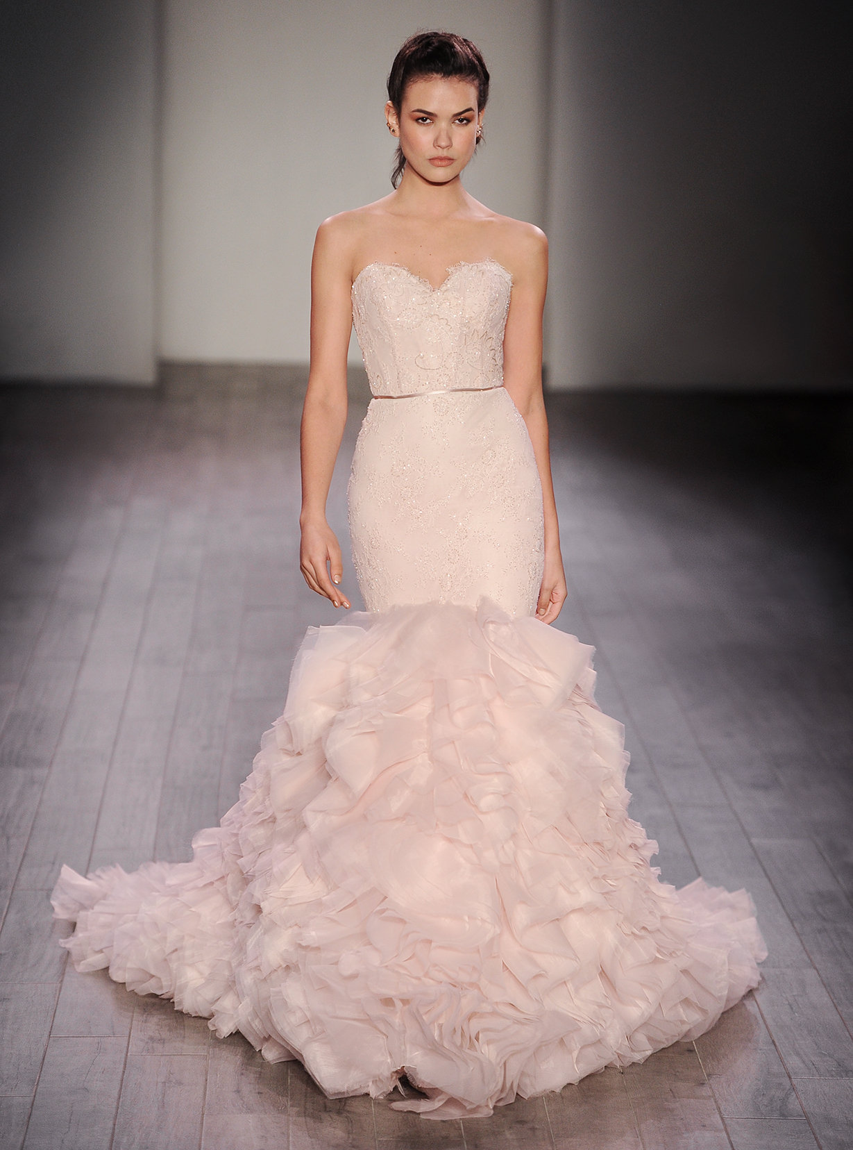 Style 3612 Alternate View · DOWNLOAD TO SAVE. Lazaro Bridal Gown   Blush ...