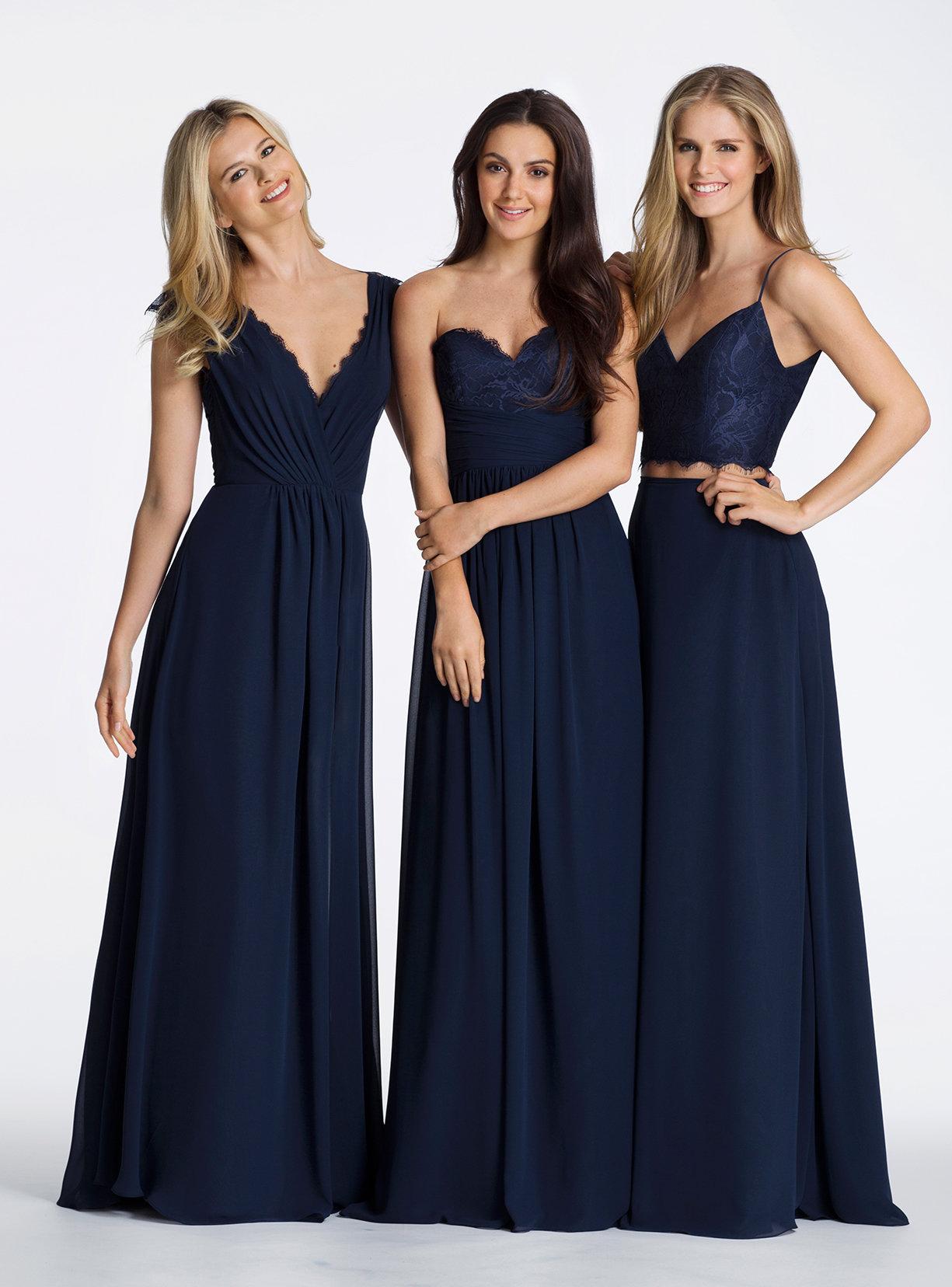 Styles of long bridesmaid dresses