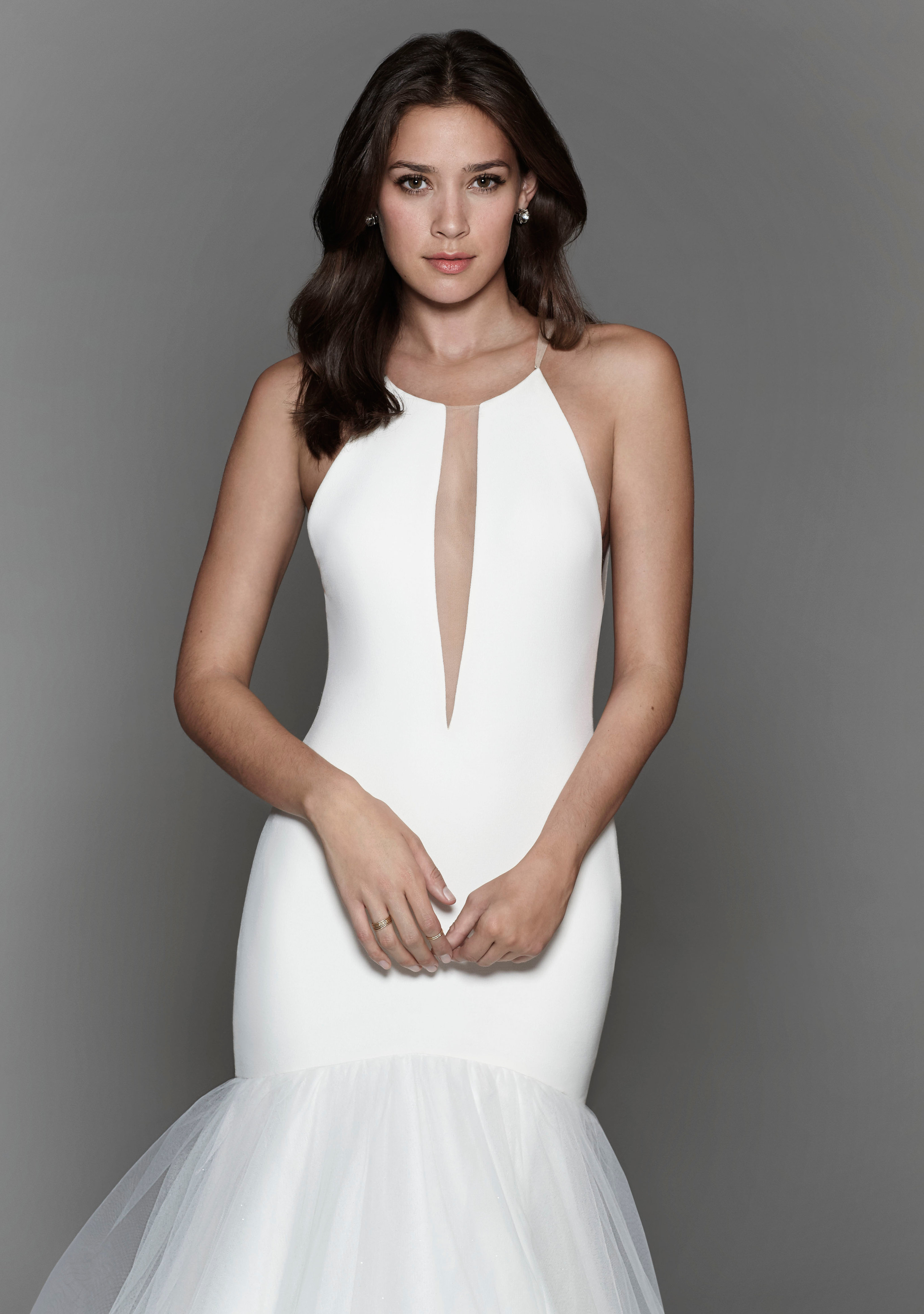 Solid Bridal Gowns