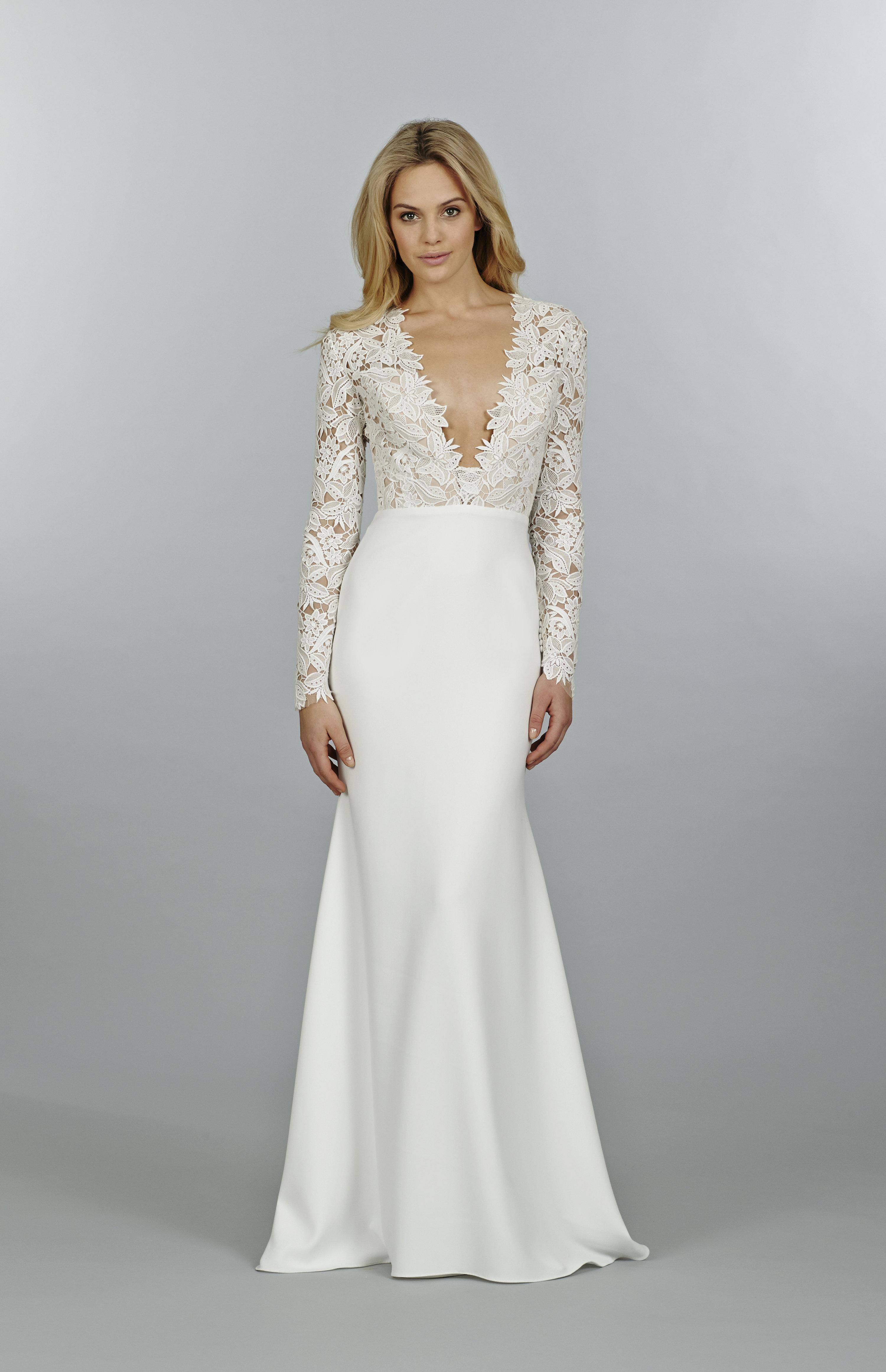 Lace long sleeve bridesmaid dress