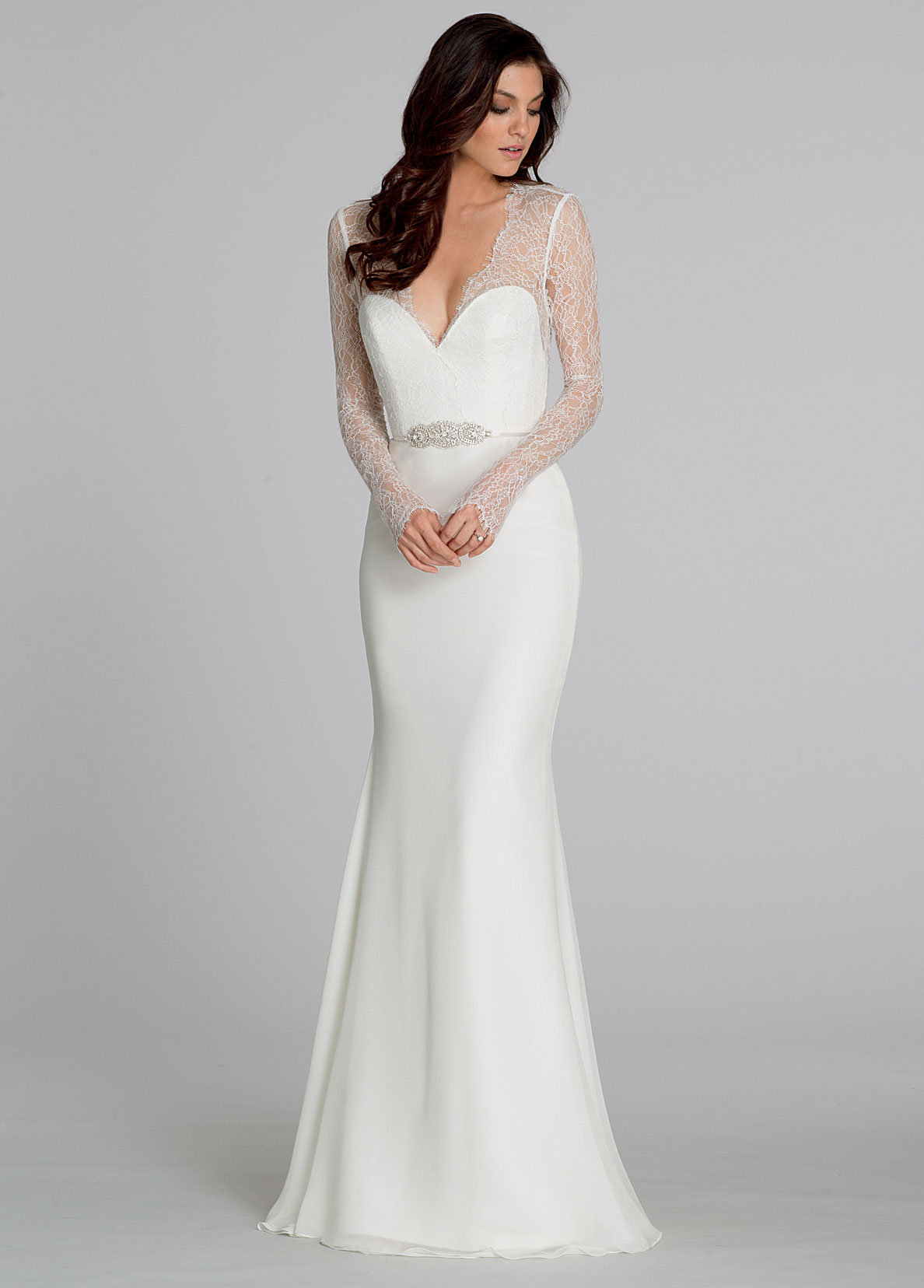 Bridal gowns and wedding dresses by jlm couture style 2551 for Long sleeve chiffon wedding dress