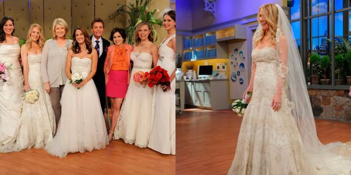Lazaro Real Bride On Martha Stewart's Winter Weddings Show