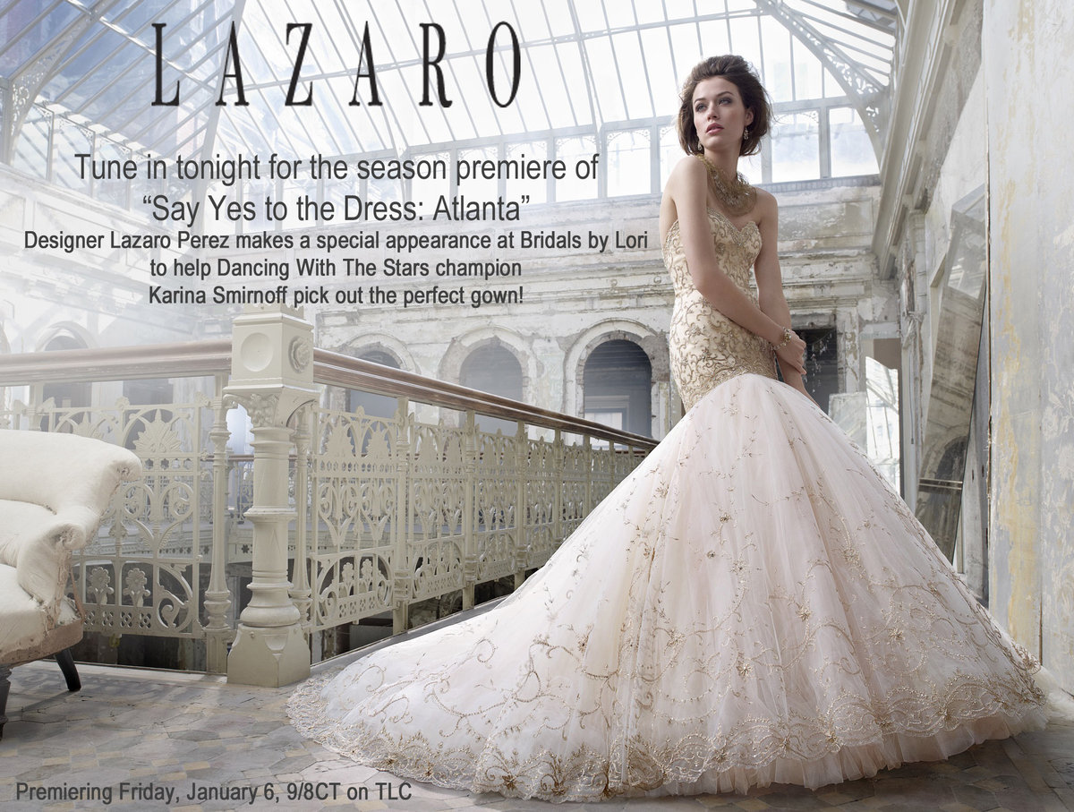 tune in tonight to say yes to the dress atlanta: lazaro surprises