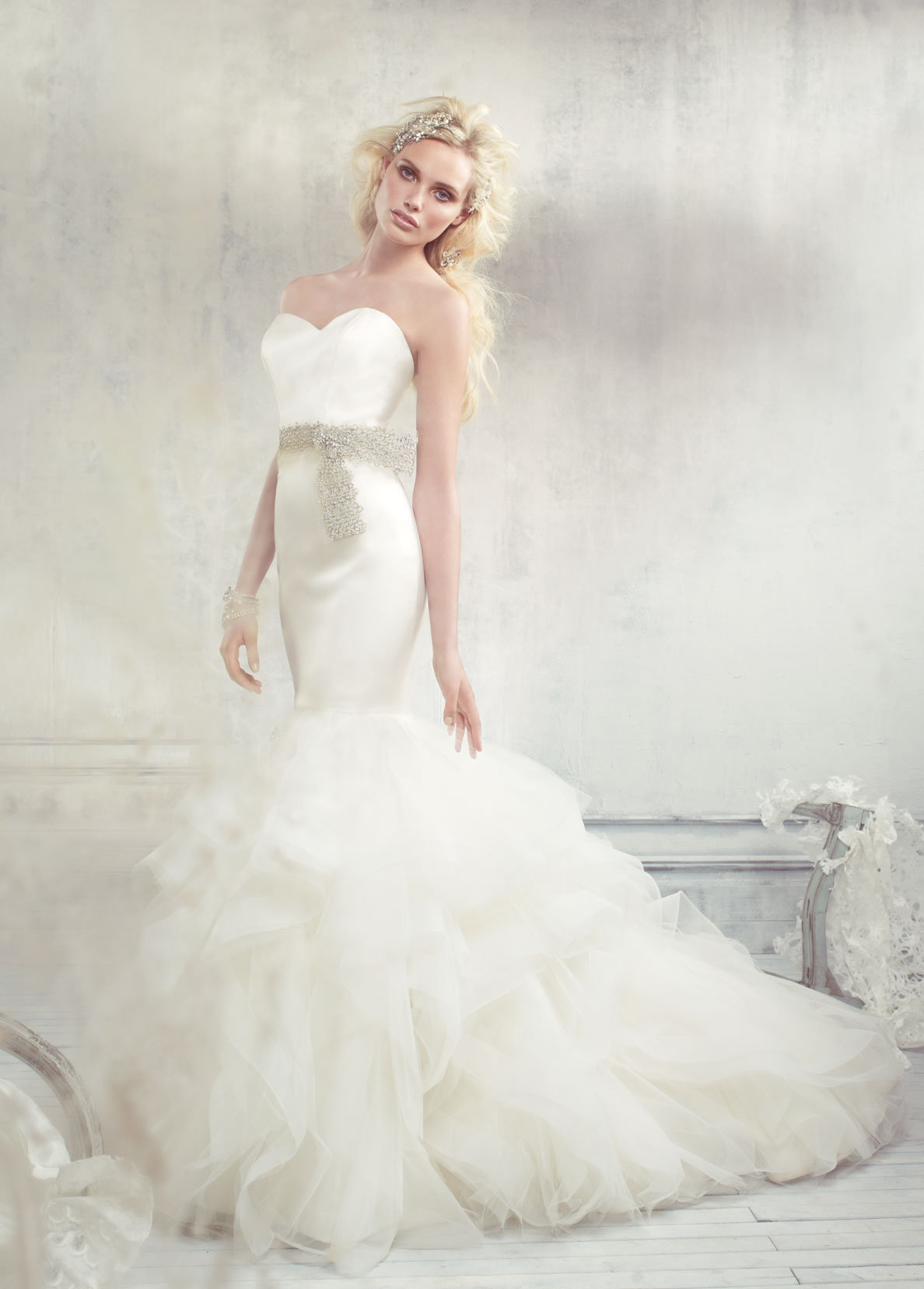 Bridal gowns and wedding dresses by jlm couture style 9307 for Tulle trumpet wedding dress