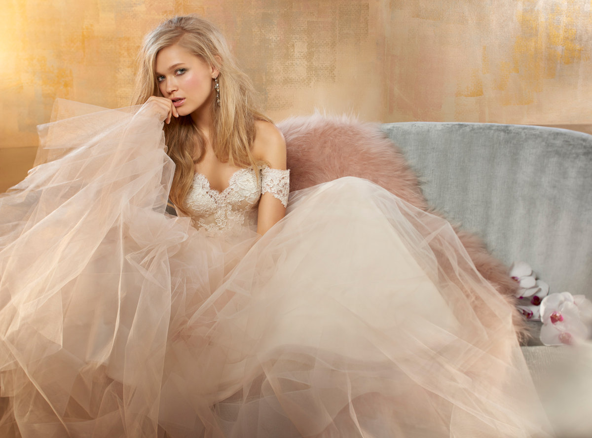 Bridal gowns and wedding dresses by jlm couture style 9506 for Tulle and lace wedding dresses