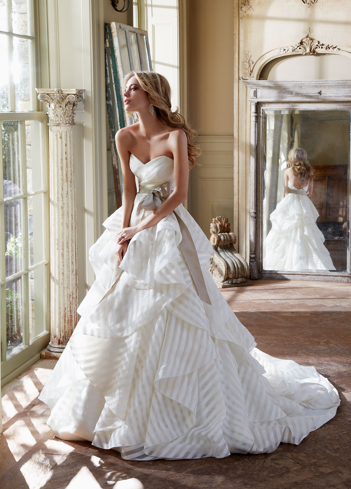 To Save Hayley Paige Bridal Gown Ivory Striped