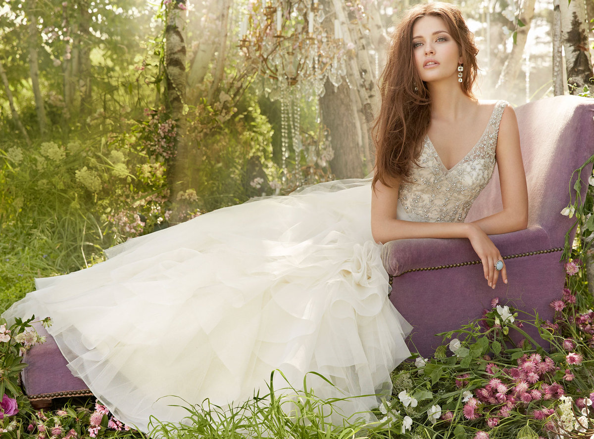 Ruffle Ball Gown Wedding Dress: Bridal Gowns And Wedding Dresses By JLM Couture