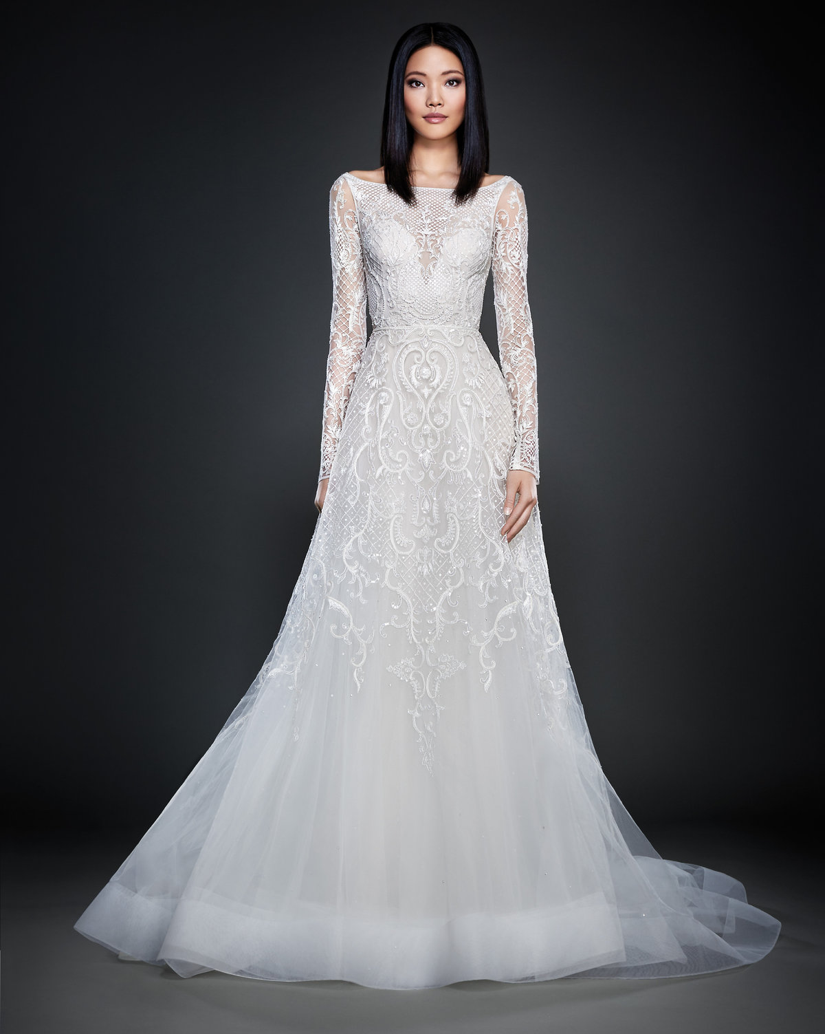 Bridal gowns and wedding dresses by jlm couture style 3709 for Lazaro a line wedding dress