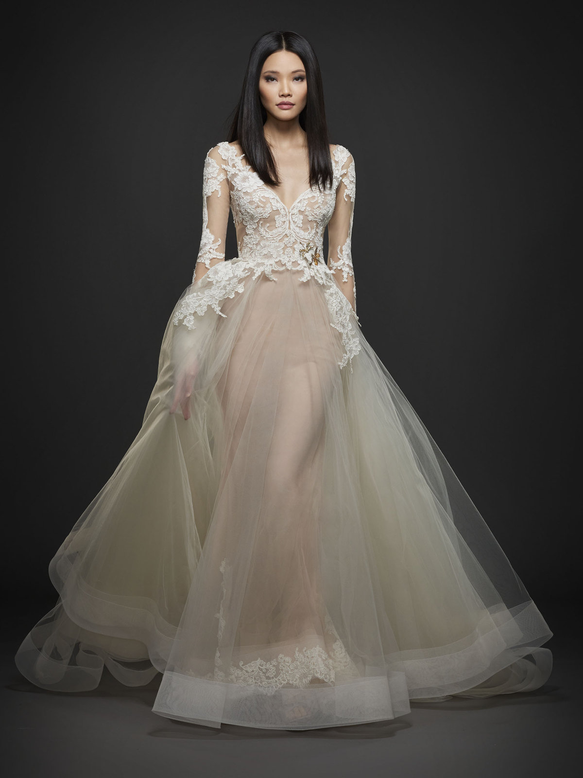 Bridal gowns and wedding dresses by jlm couture style 3762 for Lazaro lace wedding dress