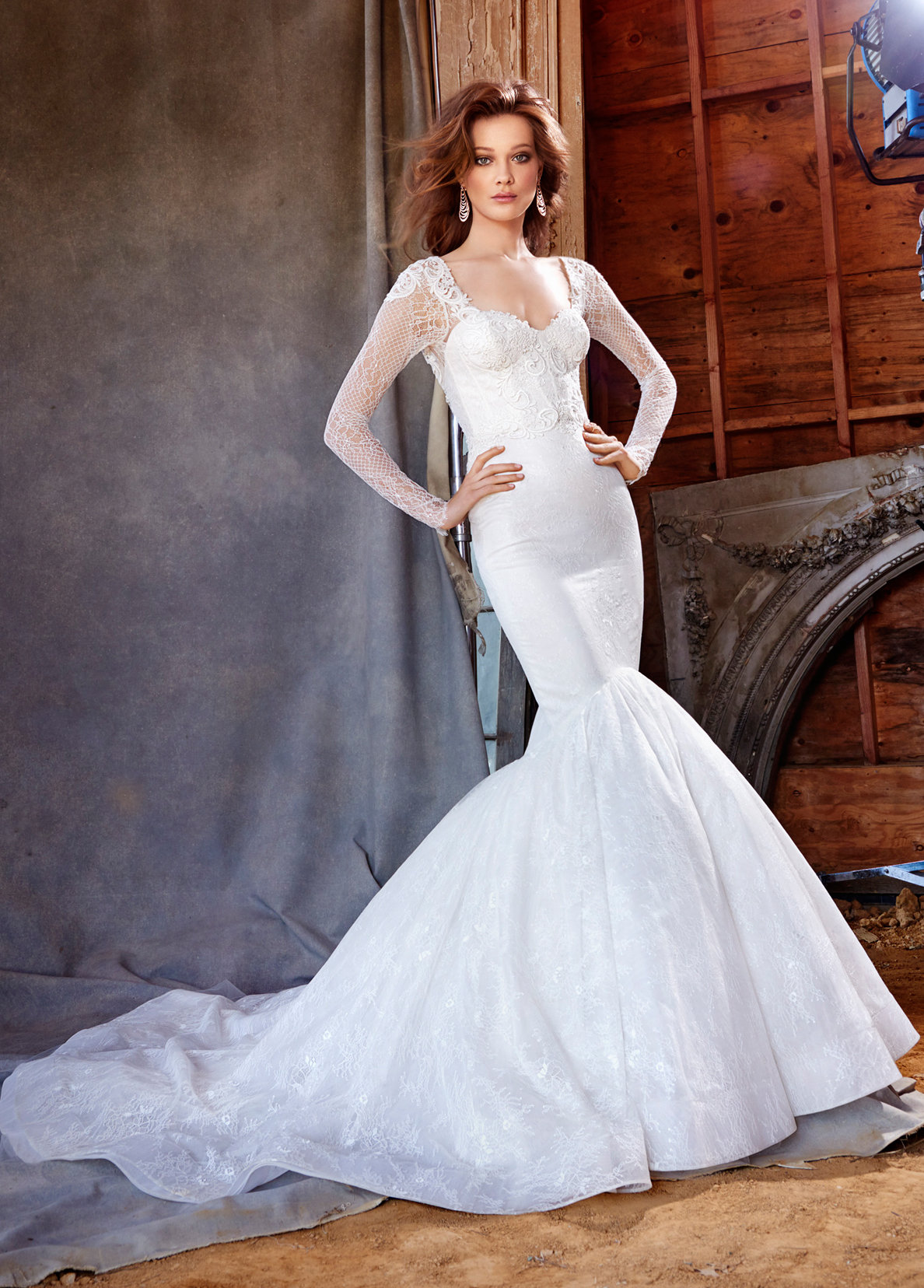 Bridal gowns and wedding dresses by jlm couture style 3560 for Lazaro lace wedding dress